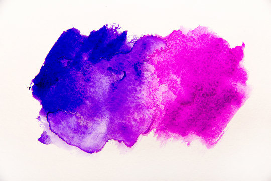 blue and violet spot water color