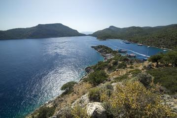 beautiful view of the sea, Turkey St. Nicholas island
