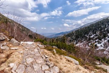 Fototapeta droga, góry, Karkonosze, Śnieżka obraz