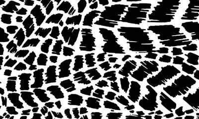 Black and white animal skin texture