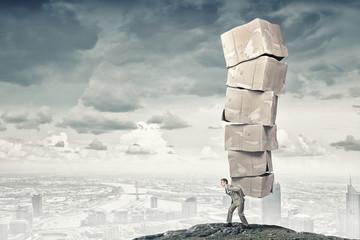 Man carry carton boxes