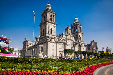 Exterior Metropolitan Cathedral in Mexico City