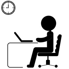 businessman working on computer