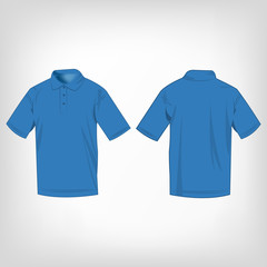 Light blue polo shirt isolated vector