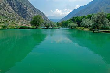 Lake in the mountains, Kyrgyzstan