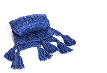 knitted scarf on a white background