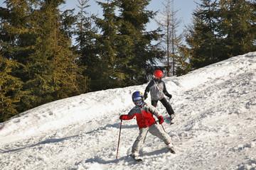 Piste Ski track in Szczyrk. Poland