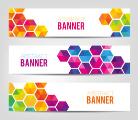 Abstract Geometrical Banners