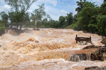 Konpapeng flood in Pakse, Laos on on 19 AUG 2007