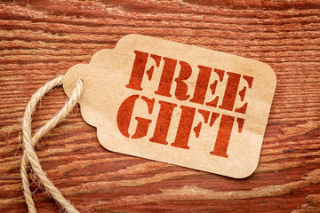free gift - paper price tag