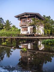Wohnhaus an einem Khlong