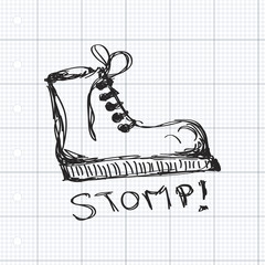 Simple doodle of a boot