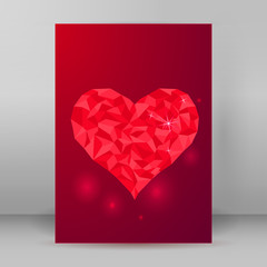 Valentine's Day greeting card vertical