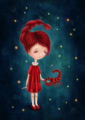 Scorpio astrological sign girl