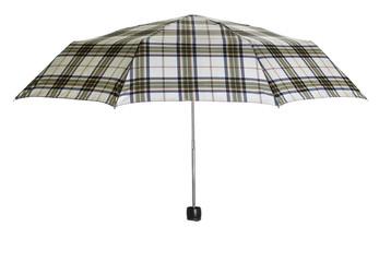 Plaid pattern umbrella on white