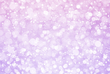 white pink purple glitter bokeh with stars abstract background
