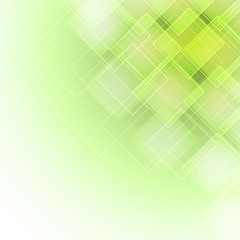 abstract green background with rhombus in the corner