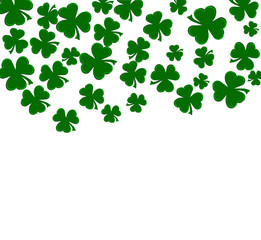 falling clovers isolated
