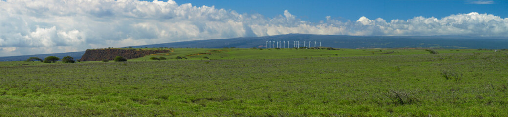 Hawaii Wind Farm Panoramic