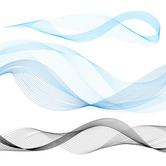 abstract colorful line wave vector illustration