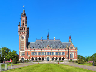 The Peace Palace in The Hague, Netherlands. It houses the International Court of Justice of UN, the Permanent Court of Arbitration and the Hague Academy of International Law.