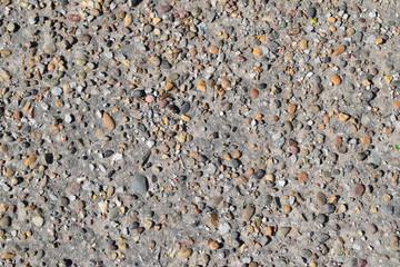 Pellet in old asphalt