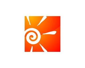 Sun in Square Orange Logo