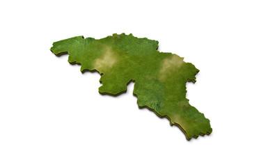 3D Belgium Map Terrain