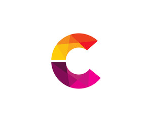 Letter C Color Poly Logo Design