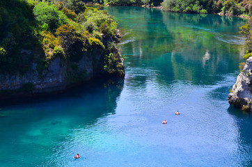 Aerial view of the Waikato River near Taupo, New Zealand