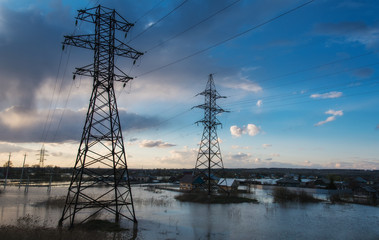 Electrical transmission lines in the water