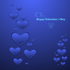 Blue Design Template red eps 10 Heart for Valentines Day Backgro