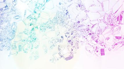 broken glass glowing background