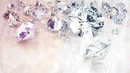 sparkling diamonds fashion background