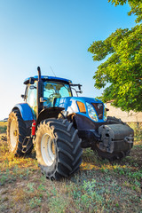 Fototapete - Kavarna, Bulgaria - July 10, 2015: New Holland T7.250 Tractor an