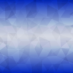 abstract geometric background of triangles on colorful blue fond
