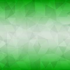 abstract geometric background of triangles on colorful green fond