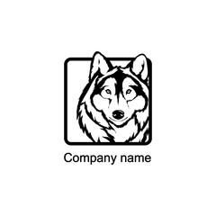 Wolf logo.Vector