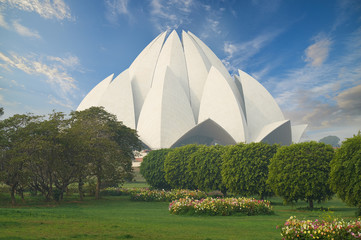 Wall Mural - The Lotus Temple, located in New Delhi, India.