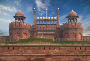 Fototapete - The Red Fort located in New Delhi, India.