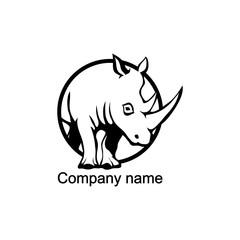 Rhino logo.Vector