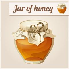 Detailed Icon. Jar of honey.