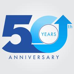 Template logo 50th anniversary, vector illustrator