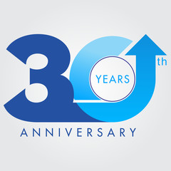Template logo 30th anniversary, vector illustrator