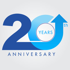 Template logo 20th anniversary, vector illustrator