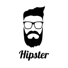 Hipster black sign