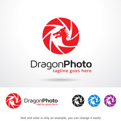 Dragon Photo Logo Template Design Vector