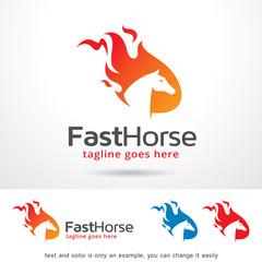 Fast Horse Logo Template Design Vector