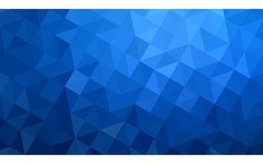 Dark blue polygonal design illustration, which consist of triangles and gradient in origami style.