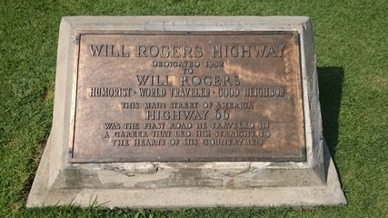 Will Rogers Highway monument - Los Angeles